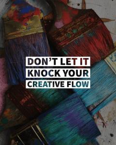 don't let rejection knock your creative flow