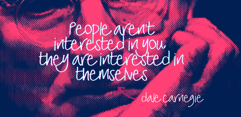 People aren't interested in you