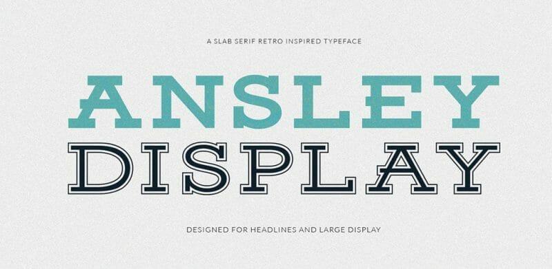 Ansley Free Vintage Font