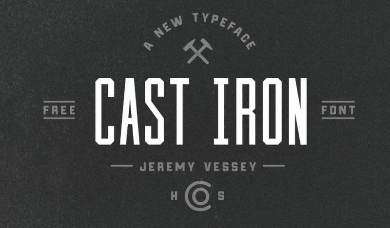 Cast Iron Retro Font Free