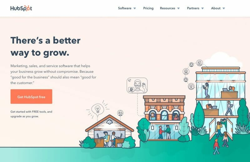 Hubspot website is all about their audience