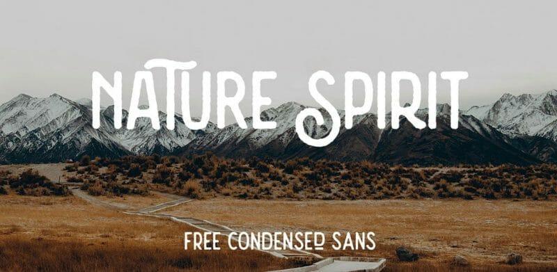 Nature Spirit Rough Free Font