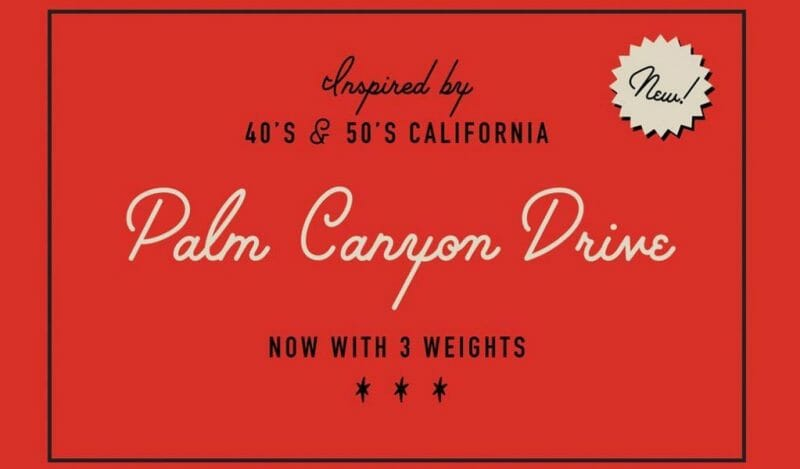 Palm Canyon Drive 1950s Retro Free Font