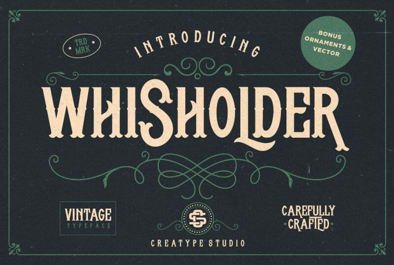 Whisholder Retro Free Font