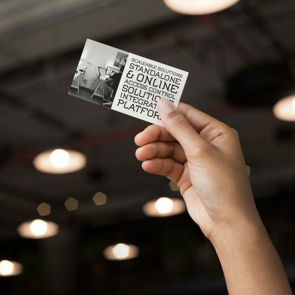 Flument Minimal Tech Font on business card