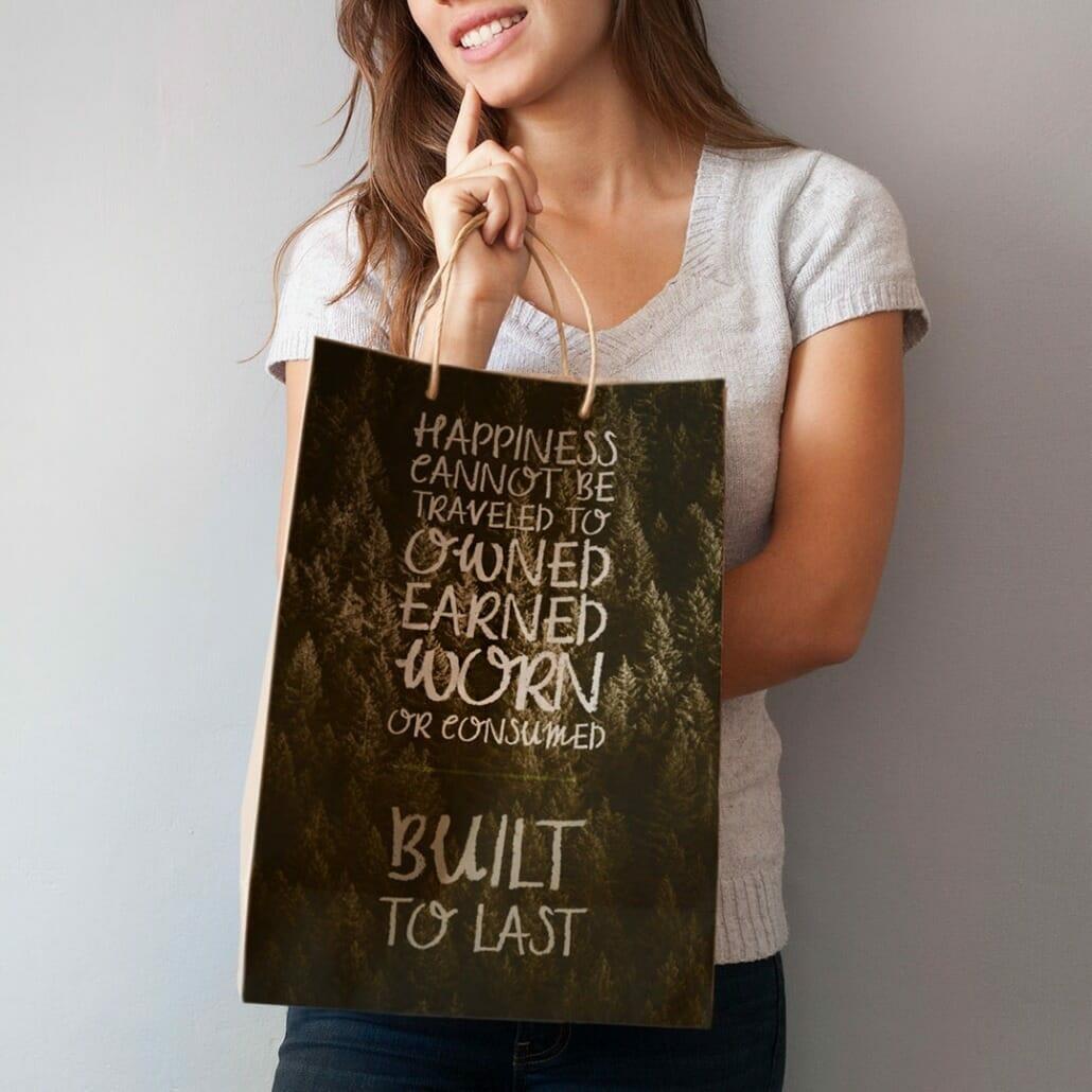 Griffon Chalk Font used on bag