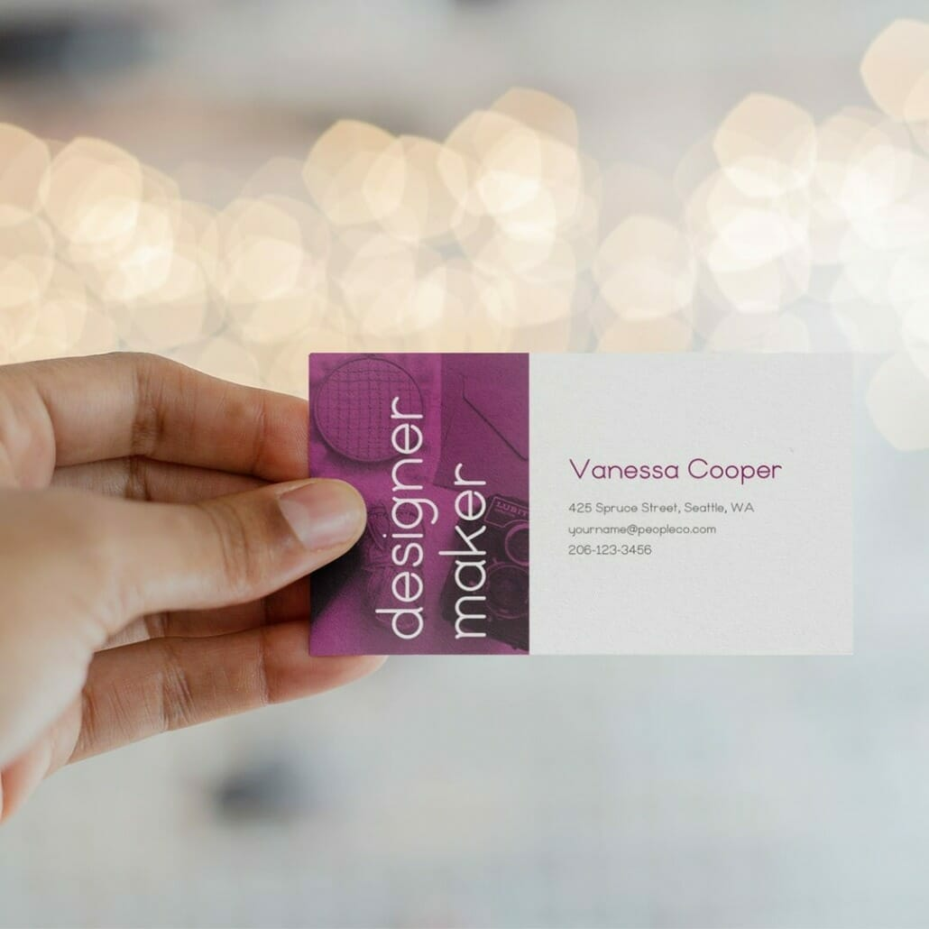 Ottavia Rounded Minimal Font Family on business cards