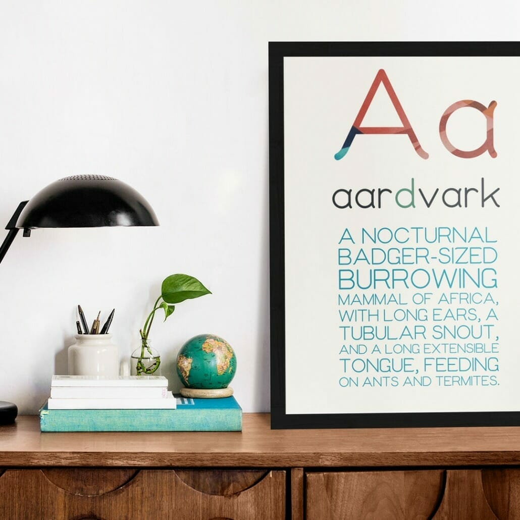 Ottavia Rounded Minimal Font Family on poster