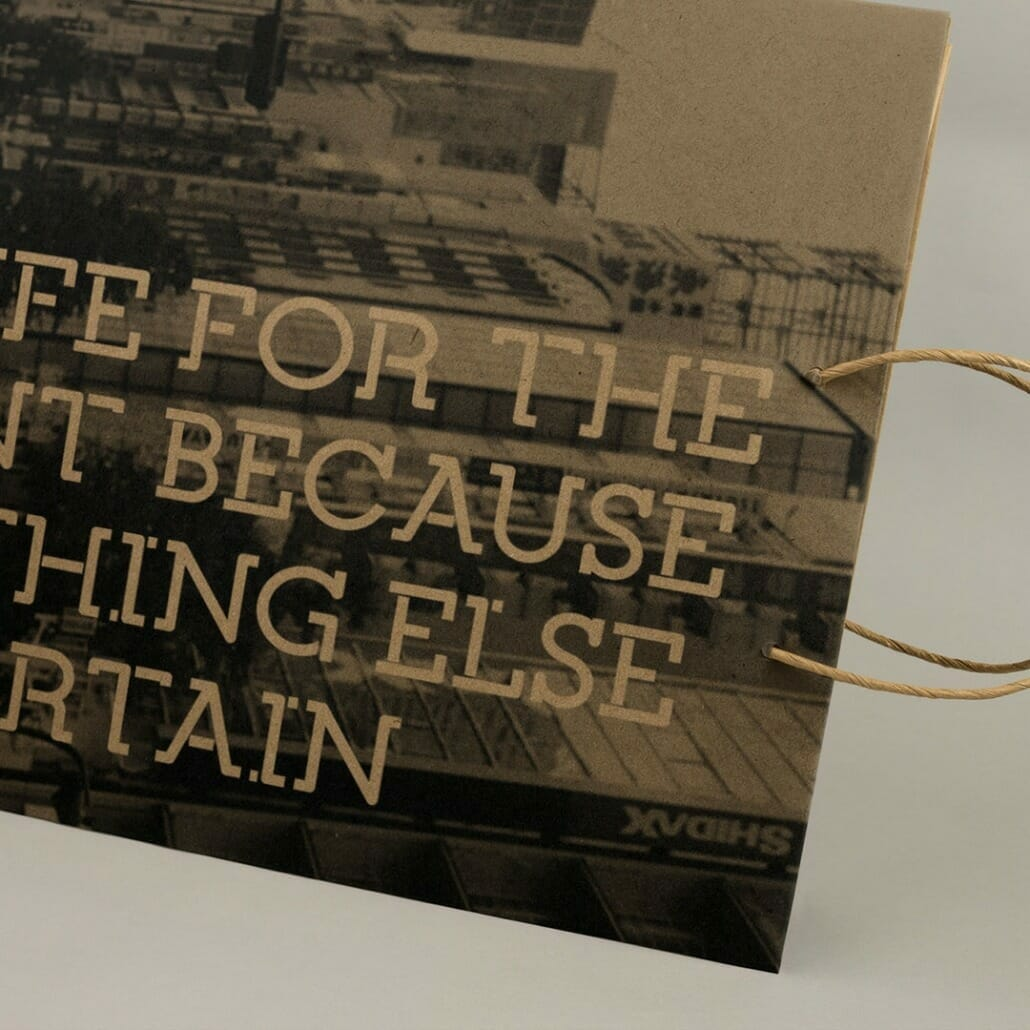 Quercia is a slab serif font on packaging